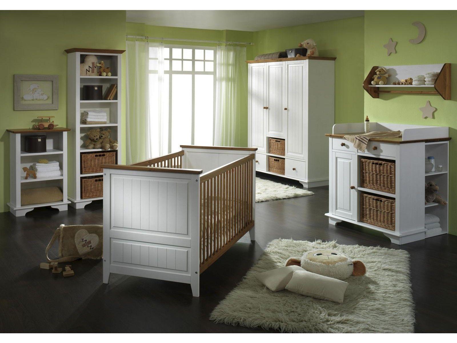 babyzimmer julia massivholz weiß/braun von massivum.de | baby
