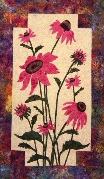 Coneflower Flower Cleo S Designs Fusible Applique Quilt Pattern Flower Quilts Applique Quilt Patterns Floral Quilt