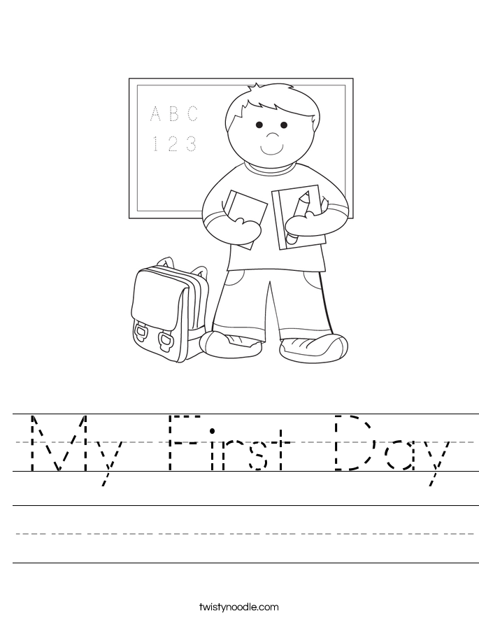 Collection First Day Of School Worksheets For Kindergarten