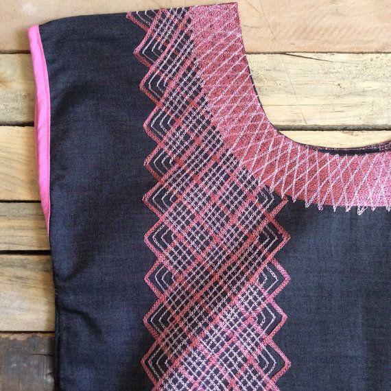 Huipil oaxaqueño hermosos bordado blusa tradicional por PureLoveMex ...