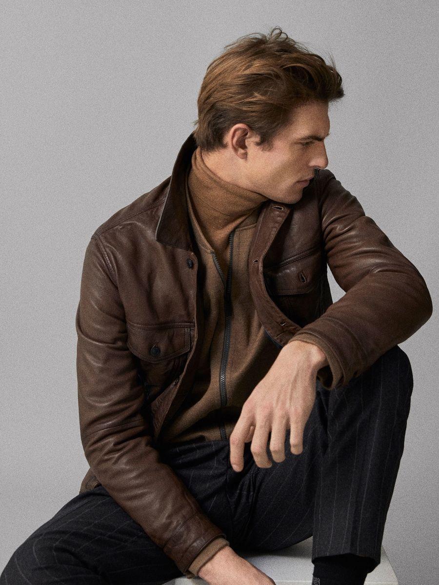 Nappa Jacket With Pockets Jackets Massimo Dutti Men [ 1199 x 900 Pixel ]