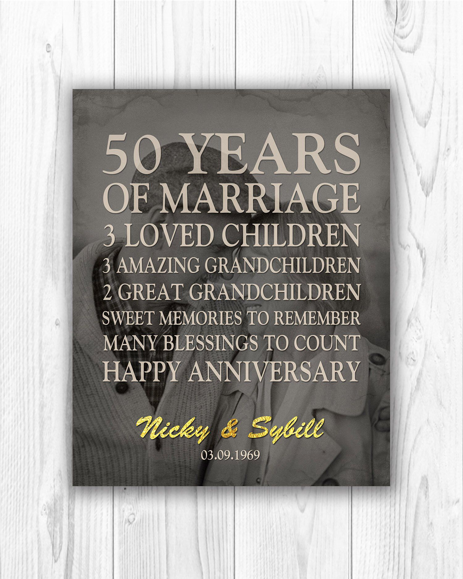 Gifts For Grandparents 50th Wedding Anniversary: Pin On Anniversary Gift Ideas