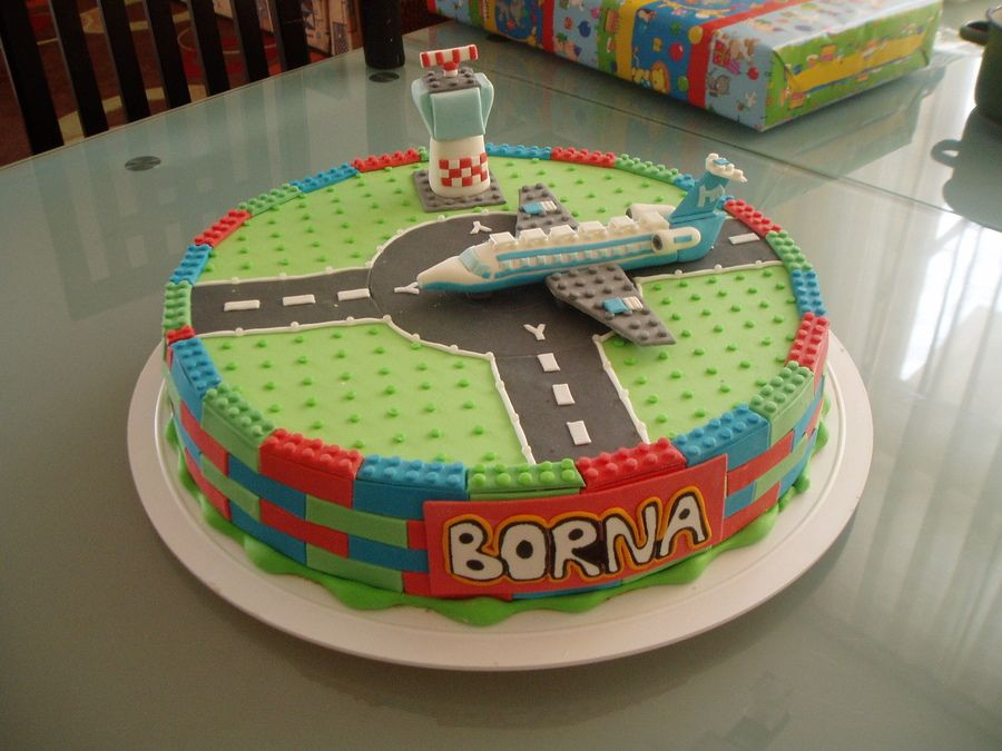 Lego Airport Cake Childrens Birthday Cakes Cakepins