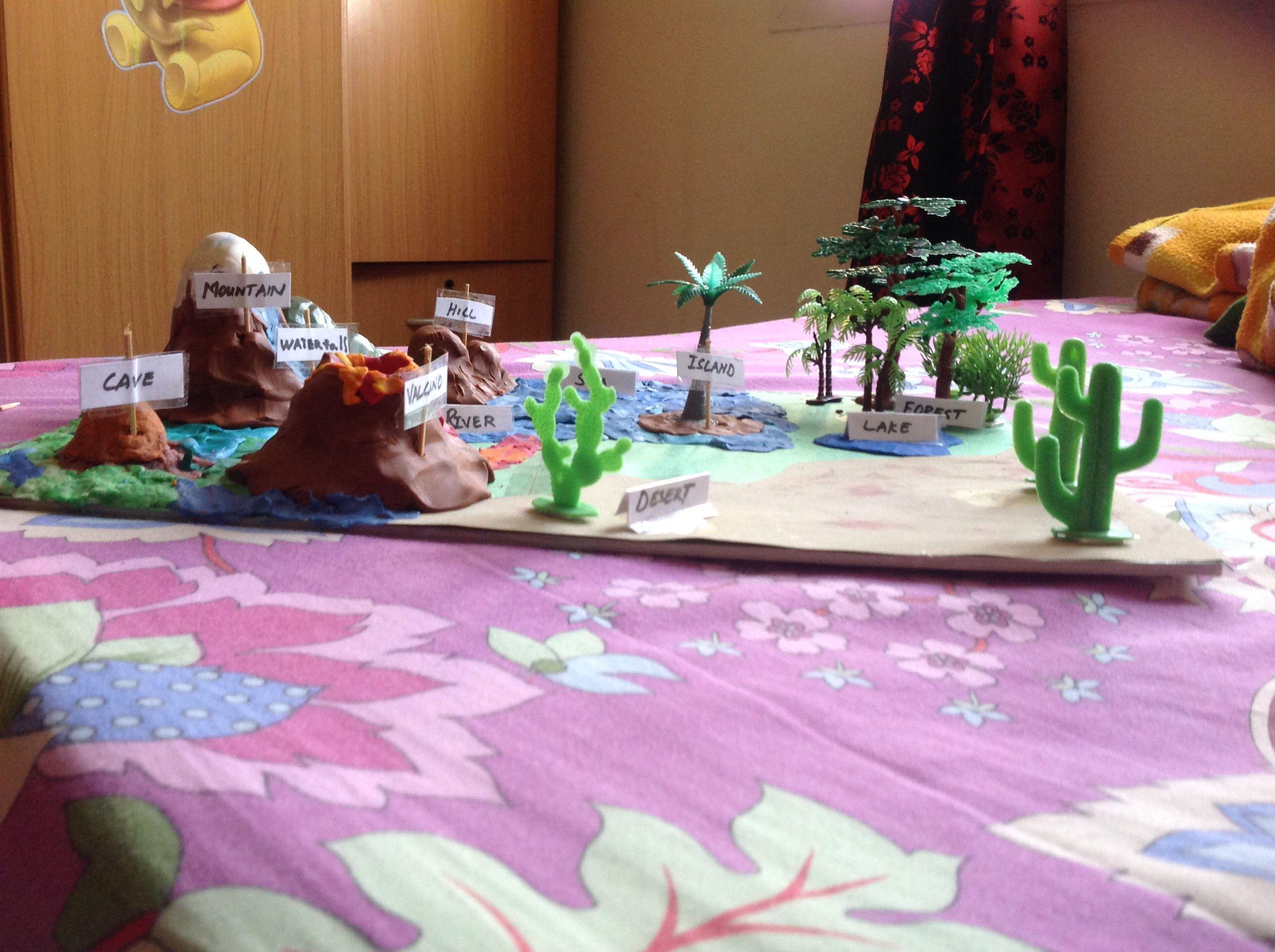 My Son S 2nd Grade Landform Project