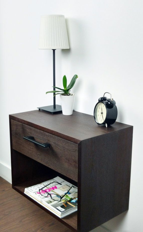 Black Floating Nightstand Nightstand With Drawer And Shelf