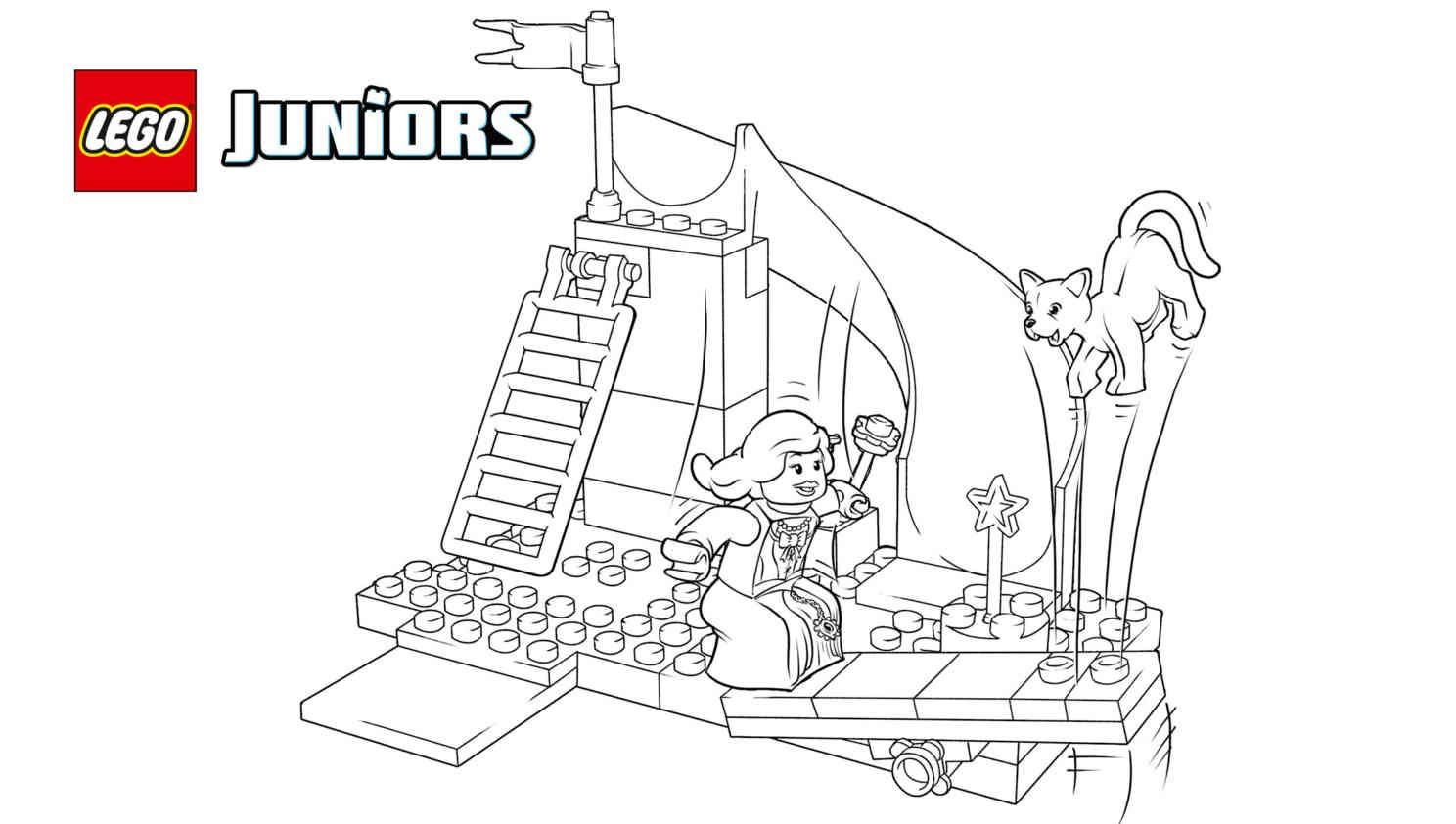 Lego The Princess Play Castle 2 Coloring Sheet