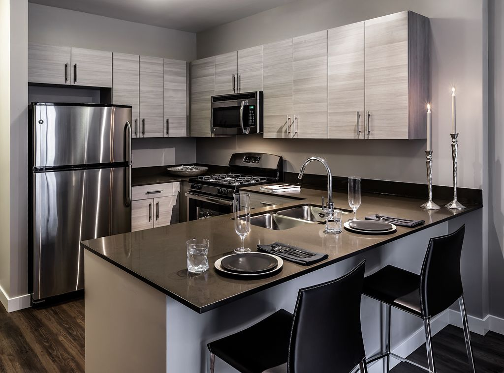 The Madison At Racine   Model Unit Kitchen (two Color Schemes Available)