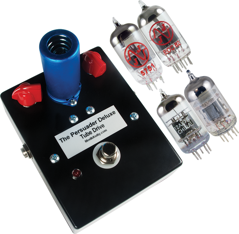 The persuader deluxe utilizes a darlington preamp to push cascaded mod kits diy introduces the persuader deluxe tube drive pedal featuring four interchangeable dual triode vacuum tubes solutioingenieria Choice Image
