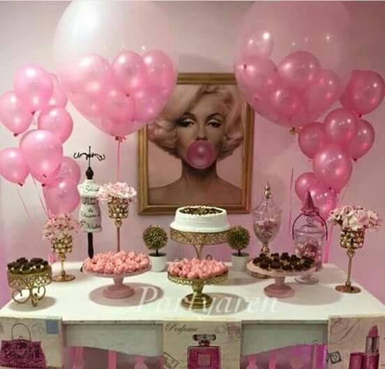Pink Party Ideas Marilyn Monroe Birthday Parties 25th Birthday Parties Birthday Decorations