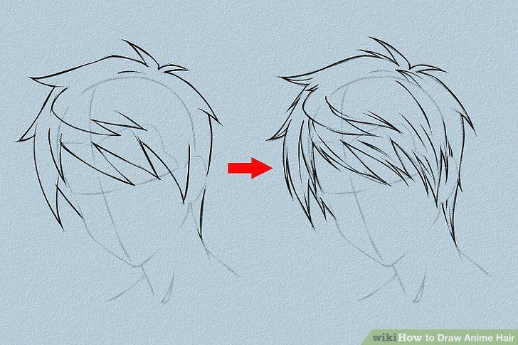 Draw Anime Hair Haare Zeichnen Anime Haare Und Manga Haar