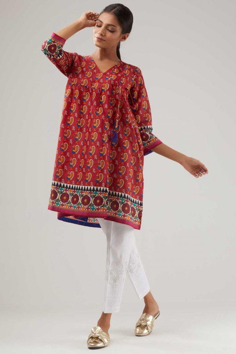 4a2d5d44cf2 Khaadi Stylish Summer Kurtas   Dresses Pret Spring Collection 2019 ...