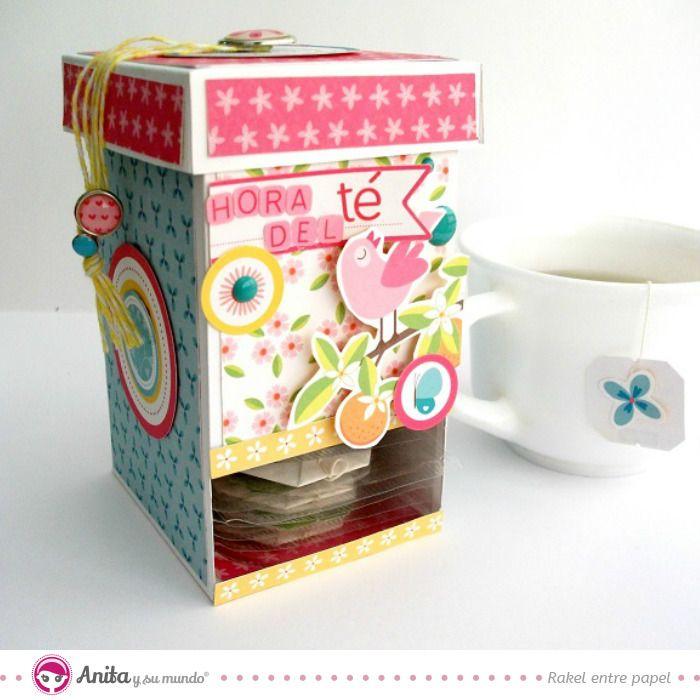 Diy dispensador de te c mo hacer una cajita de papel - Como hacer una caja para te ...