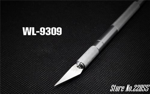 Metal Handle Hobby Knife/cutter knife / craft knife / pen cutter+5pcs Blade Knives set for PCB Repair DIY tool