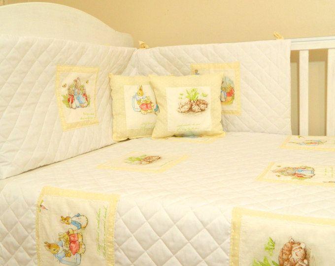 Yellow Beatrix Potter Baby Bedding Neutral Peter Rabbit Baby