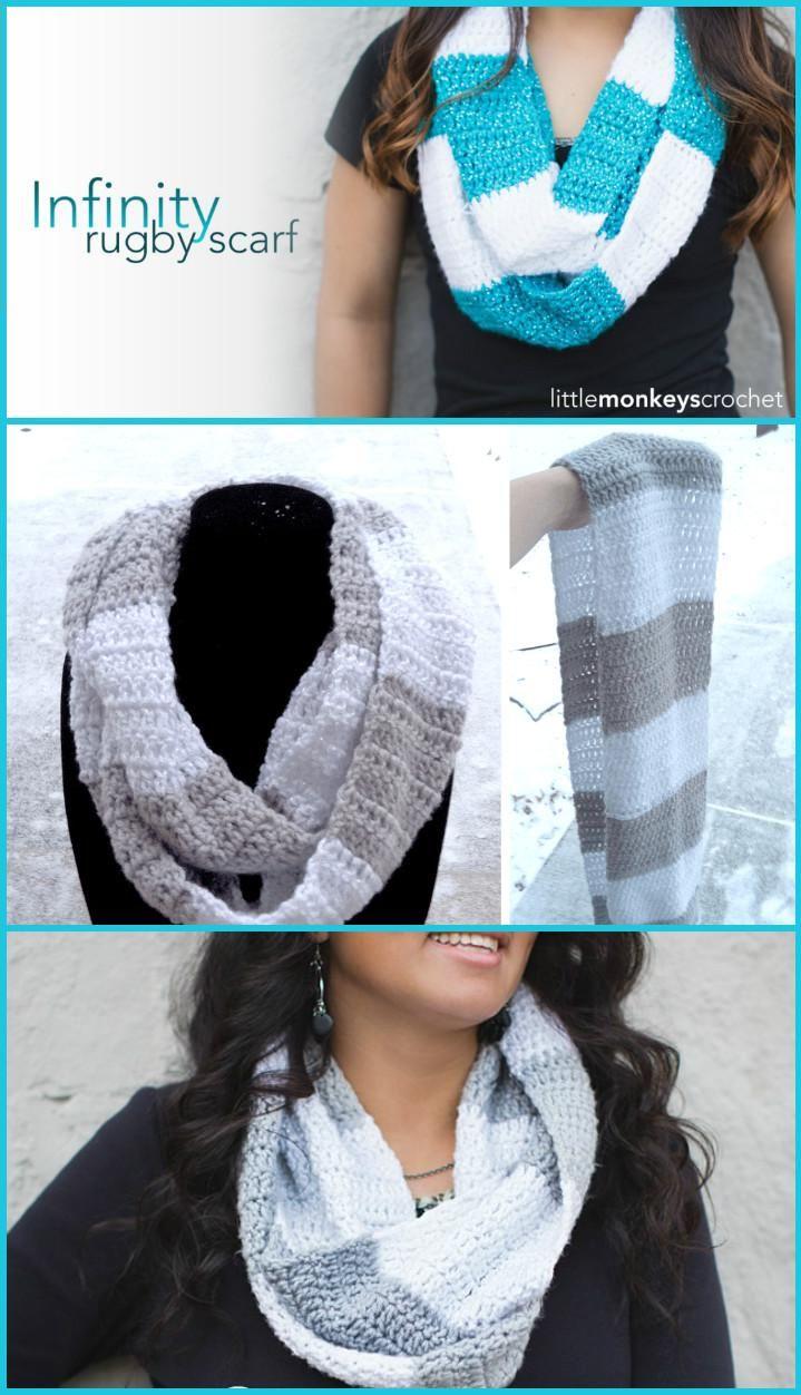 45 Best DIY Infinity Scarf Tutorials - DIY Fashion | Blusas lindas y ...