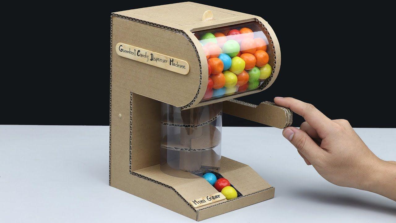 Biuld Gumball Vending Machine DIY from Cardboard