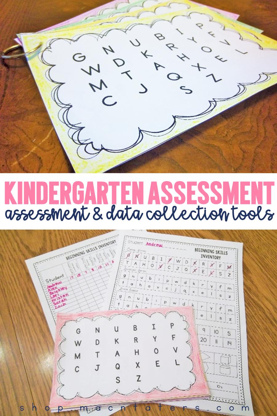 Kindergarten Assessment | New Teachers | Pinterest