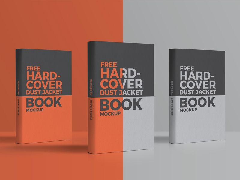 Free Hardcover Dust Jacket Book Mockup Book Cover Mockup Mockup Flyer Design Templates