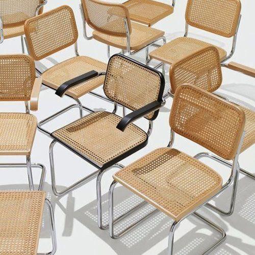 marcel breuer stuhl cesca freischwinger bauhaus st hle pinterest. Black Bedroom Furniture Sets. Home Design Ideas