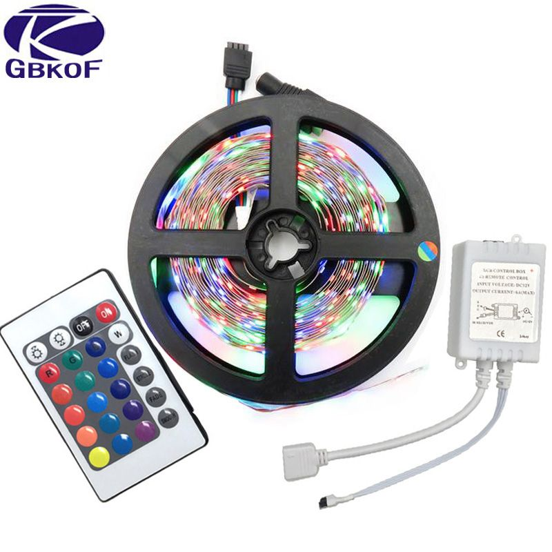 Gbkof 5m rgb led strip 3528 smd 60ledsm no waterproof strip light gbkof 5m rgb led strip 3528 smd 60ledsm no waterproof strip light with 24keys aloadofball Gallery