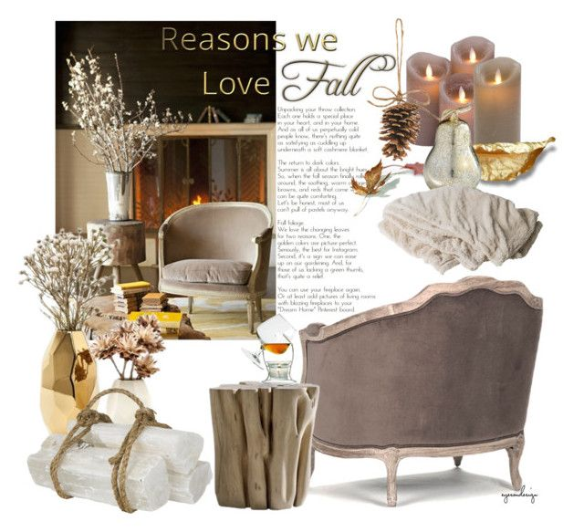 """""""Fall Interiors ~ Reasons we love Fall"""" by eyesondesign ❤ liked on Polyvore featuring interior, interiors, interior design, home, home decor, interior decorating, Gervasoni, Cyan Design, Nate Berkus and Jayson Home"""