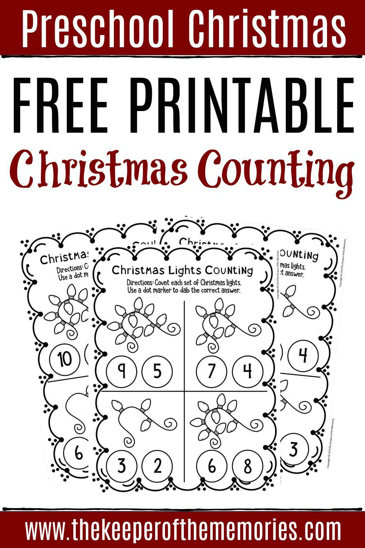 Free Printable Counting Christmas Preschool Worksheets Christmas Math Worksheets Christmas Worksheets Preschool Christmas [ 1500 x 1000 Pixel ]