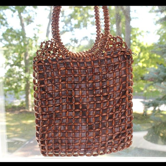 Wooden Beaded Handbag Bought in Dominican Republic! Beautiful handmade bag that you can not find anywhere else  Bags
