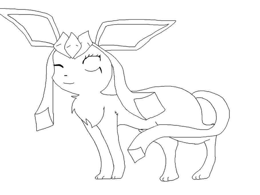Pokemon Glaceon Coloring Pages Pokemon Coloring Pages Coloring