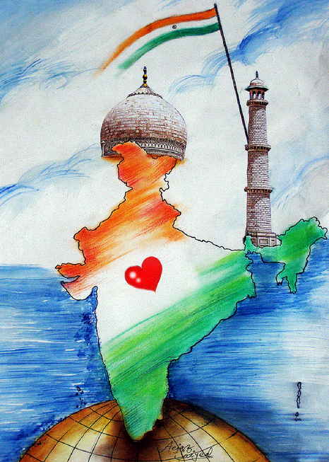 Travel India Http Www Missmalini Com 2014 01 02 Things India 7 Years Recommendations For Thi Independence Day Drawing Art Drawings Simple Diy Art Painting