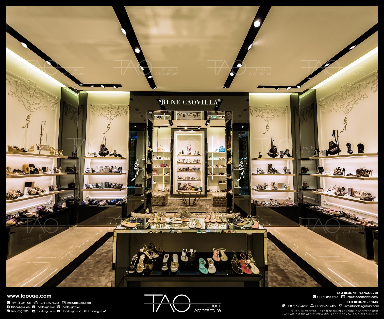 Opera Shoes Shop Interior In Dubai Mall | By TAO Designs LLC | #interior #