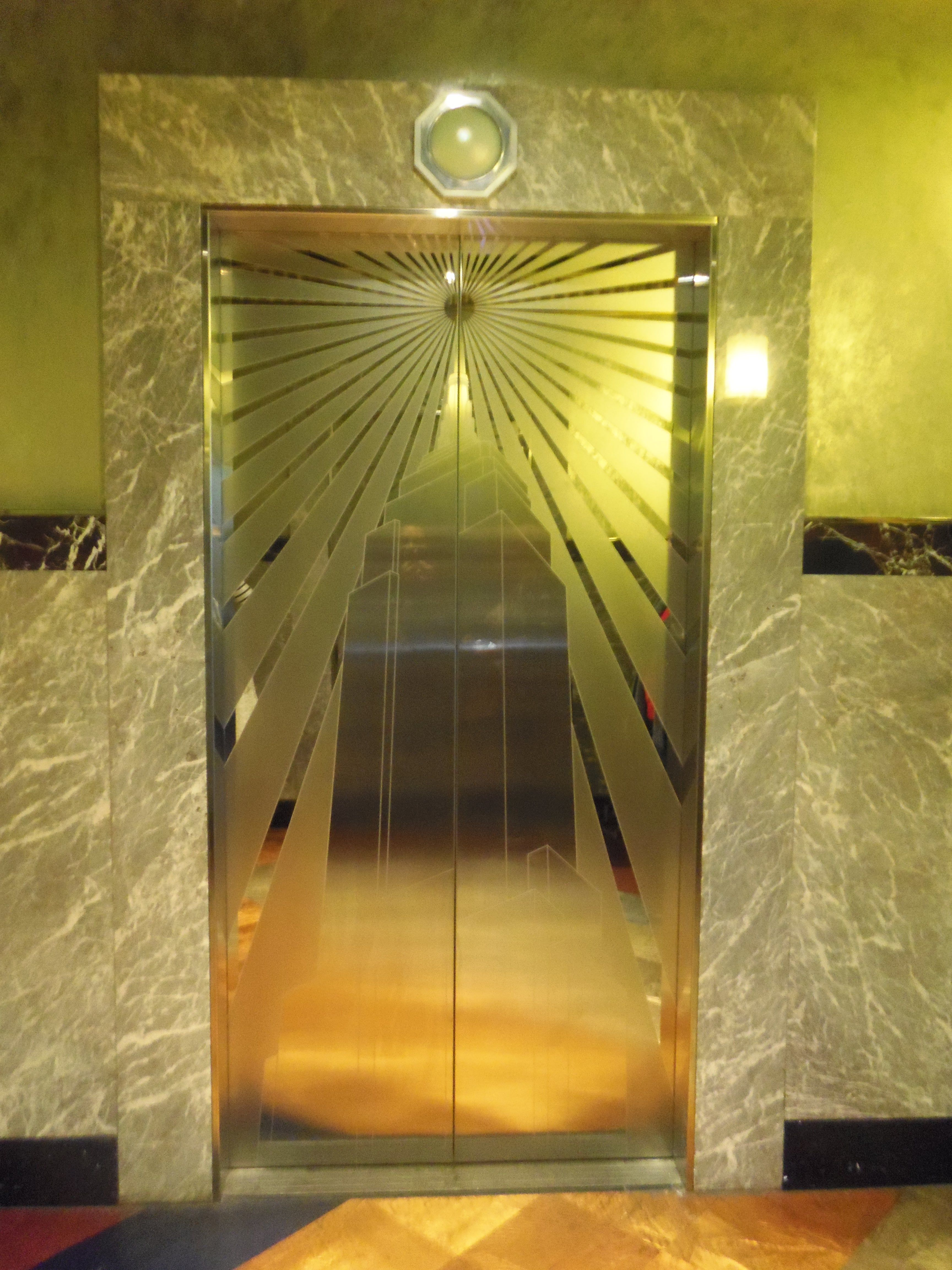 Original Art Deco Empire State Building Interior The