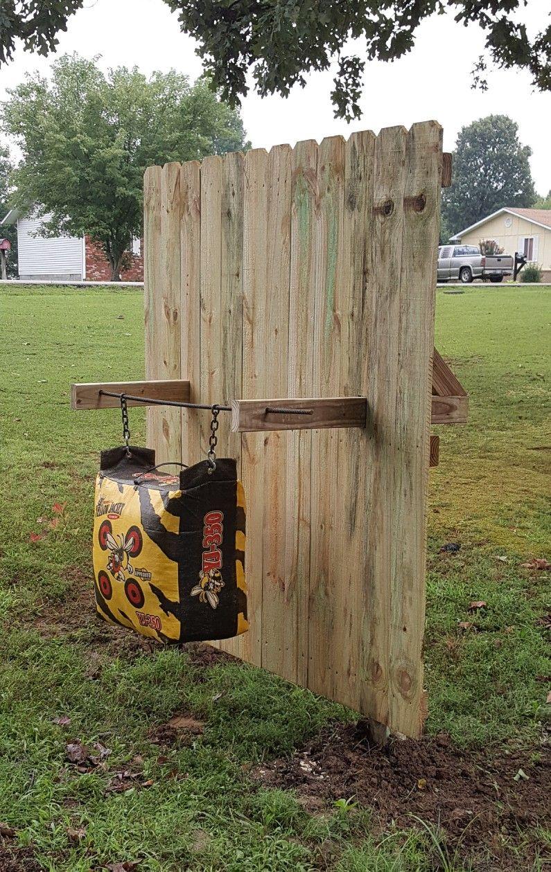 Backyard Archery Target And Backstop Diy Archery Target Archery Backyard