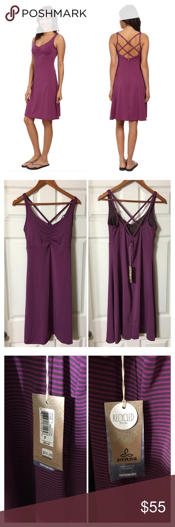Pink n purple dress  PrAna Rebecca dress NWT  Flaws Brown and Customer support