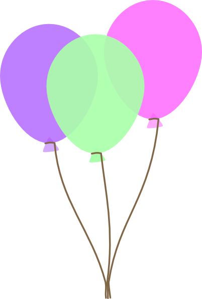 pink balloons clipart