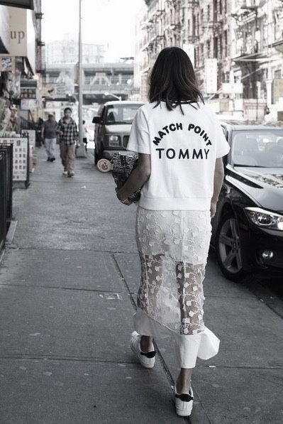 Slogan tees are a great way to bring a street wear feel to any outfit.
