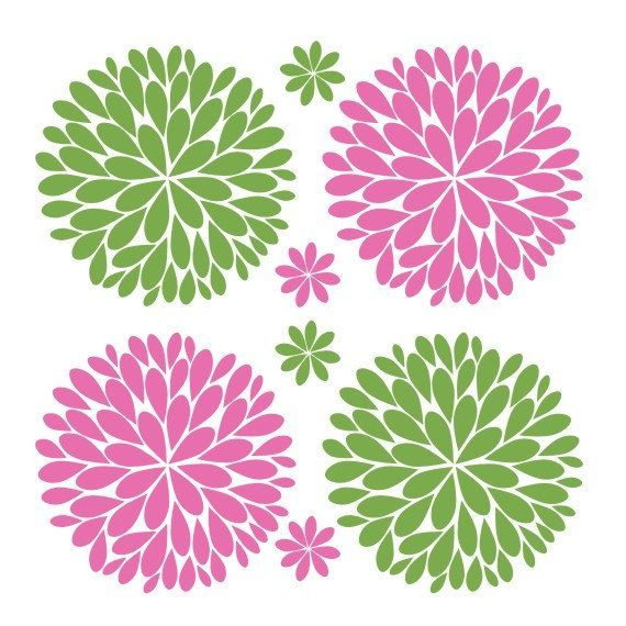 Big Bold Fun Dahlia Flowers Vinyl Decal By Thedecalgirl On Etsy Silhouette Cameo Vinyl Cricut Crafts Flower Tutorial