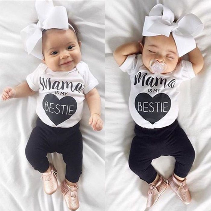 UK Toddler Newborn Infant Baby Boy Girl Romper Bodysuit Jumpsuit Clothes Outfits