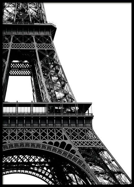Poster Schwarz Weiß | Schwarz Weiß Bilder online bestellen | Desenio #eiffeltower