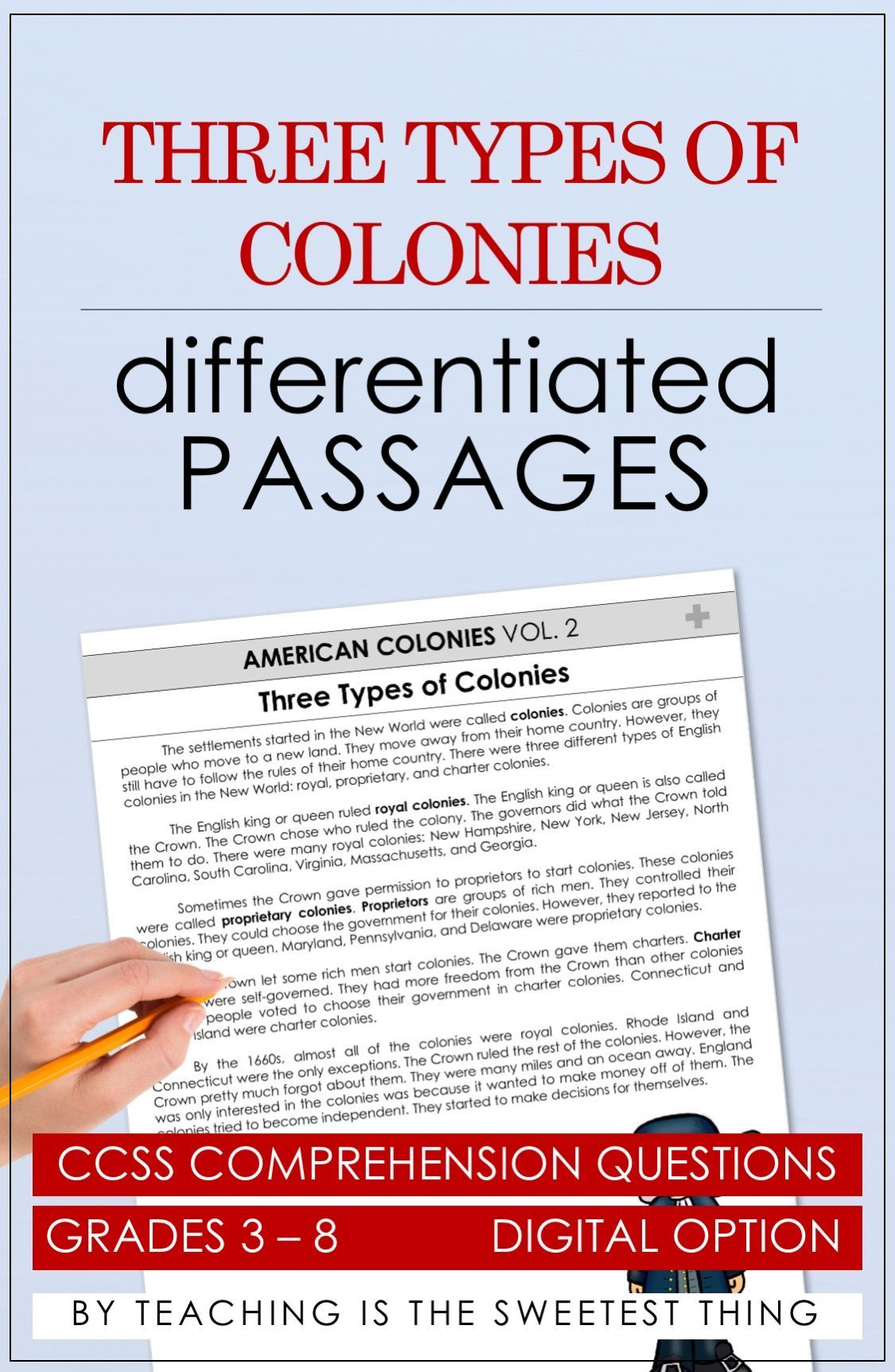 Miles And More Questions American Colonies Passages Vol 2 Grades 8 9 And 10 English