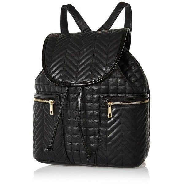 Woman Designer Inspired  Ladies Quilted Faux Leather Backpack Rivet Rucksack
