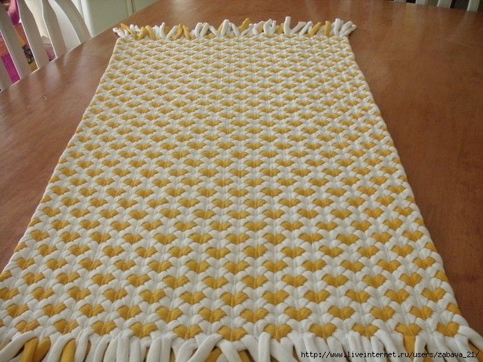 Alfombra trenzas de 3 4 craft ideas pinterest trenza - Tutorial alfombra trapillo ...