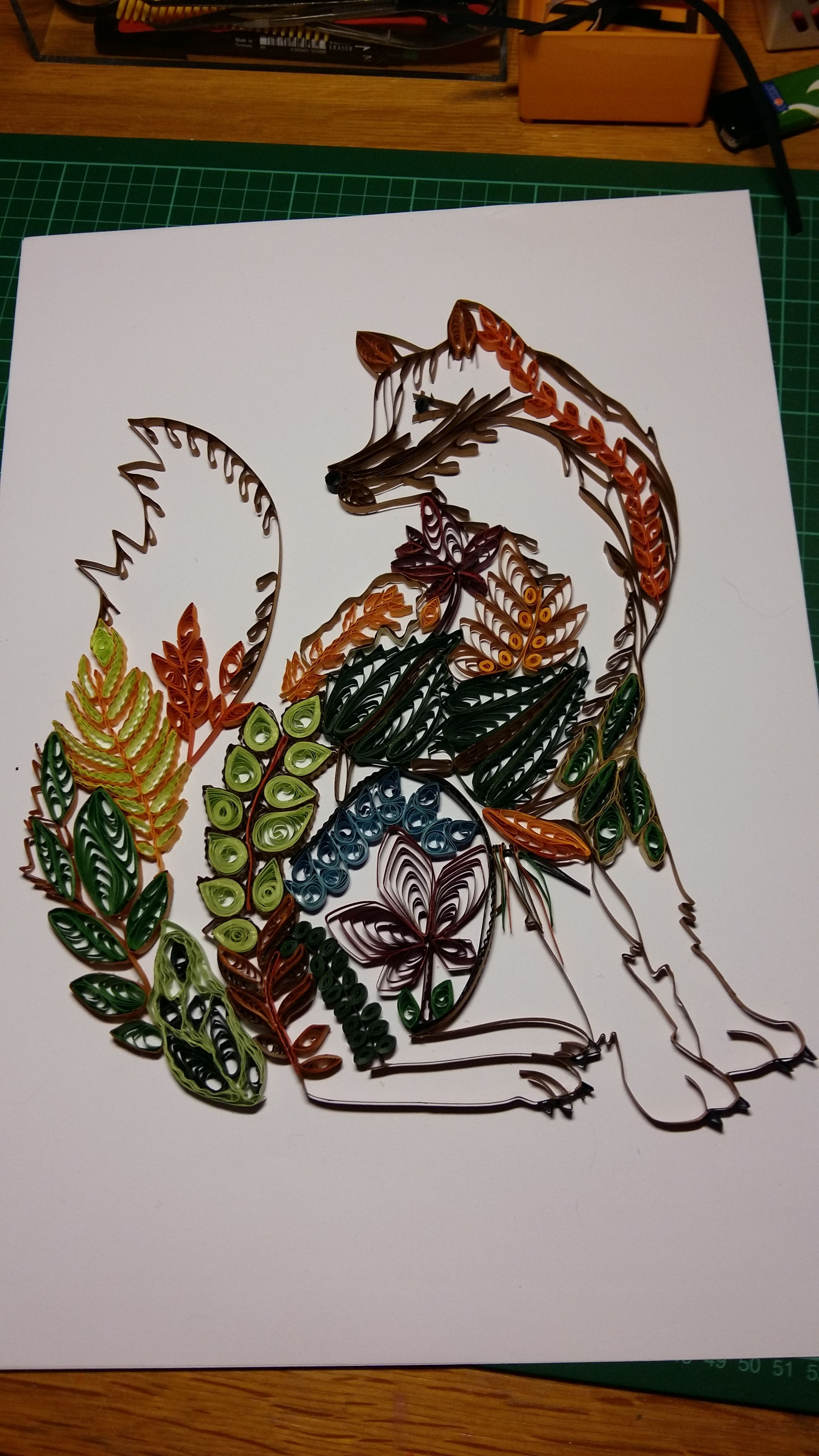 Quilling - Fox Template in smaller size bought in China | AnnJen ...