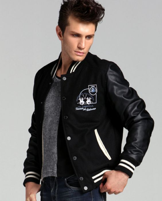 All Black Mens Wollen Baseball Jacket Sale | Outfits I love ...