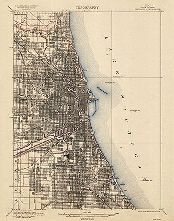 USGS Topographic Map Of Chicago Usgs Topographic Maps - Us geological topographic maps