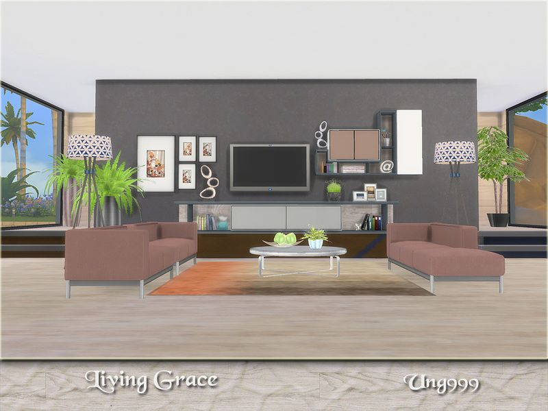 ung999's living grace  modern living room set modern