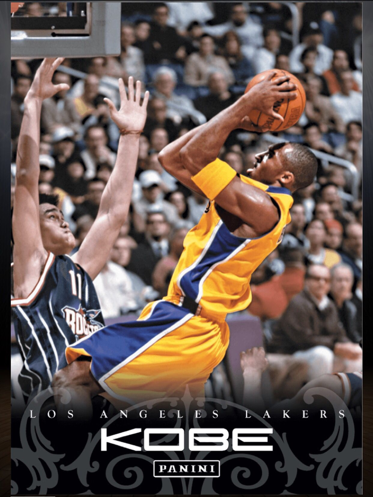 kobe bryant los angeles lakers yao ming kobe anthology card kobe bryant los angeles lakers yao ming kobe anthology card panini dunk