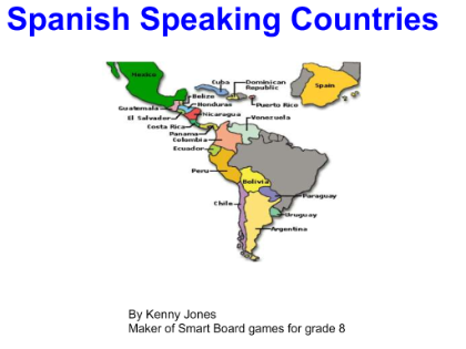 Smartboard: The Spanish Speaking Countries and capitals. | Spanish ...