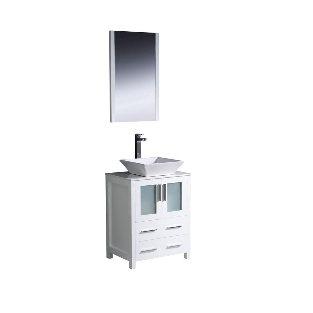 Picture Collection Website Fresca Torino in Vanity in White with Glass Stone Vanity Top in White with