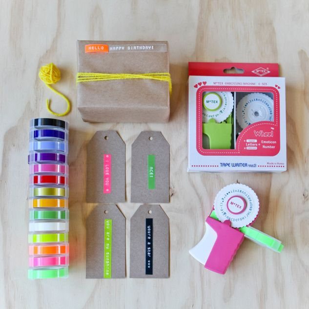 Neon Embossed Labels By Decor8 Via Flickr Embossing Label Maker Label Maker Tape Label Maker