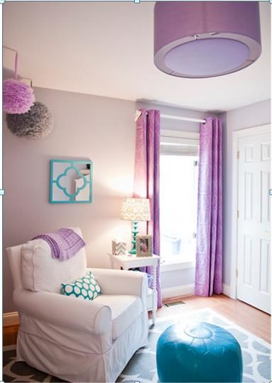 Burden decorating1 Radiant Orchid in a Babys Nursery Pantone Colour of the Year 2014